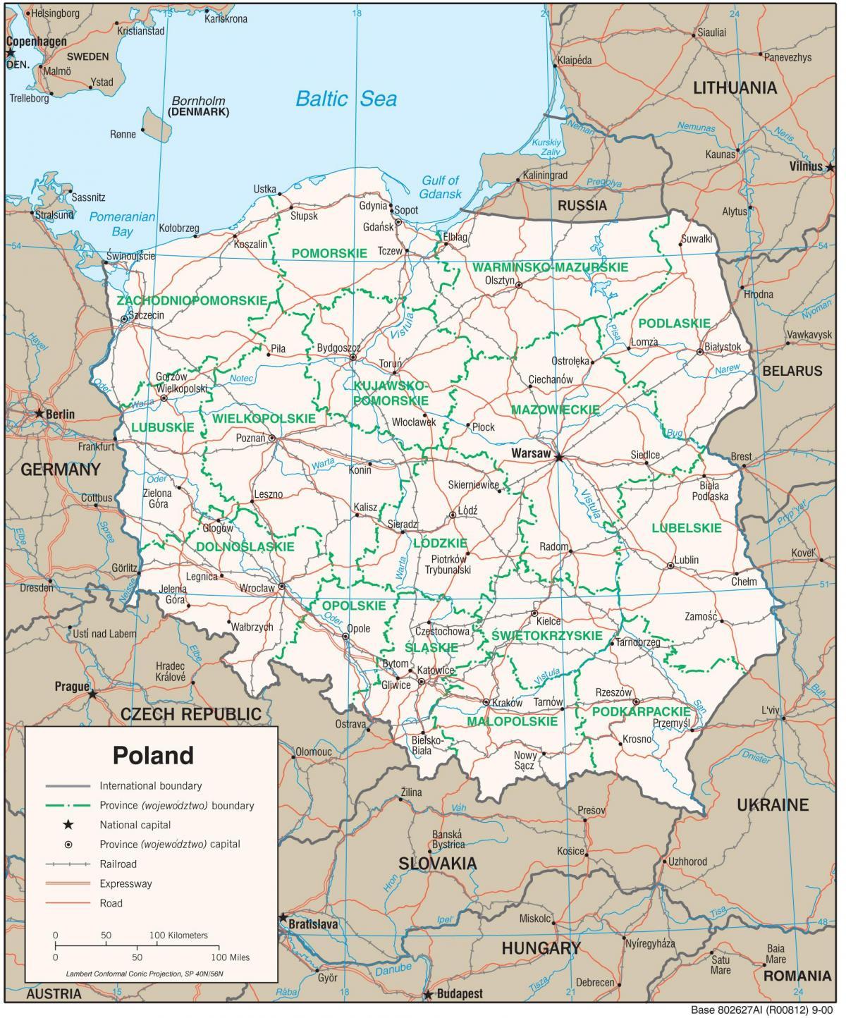auschwitz térkép Térkép Lengyelország   térkép Lengyelország (Kelet   Európa) auschwitz térkép